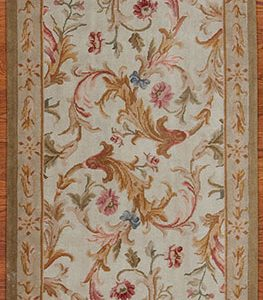 3' x 10' Hand-knotted Thick and Plush Wool French Savonnerie Runner Rug