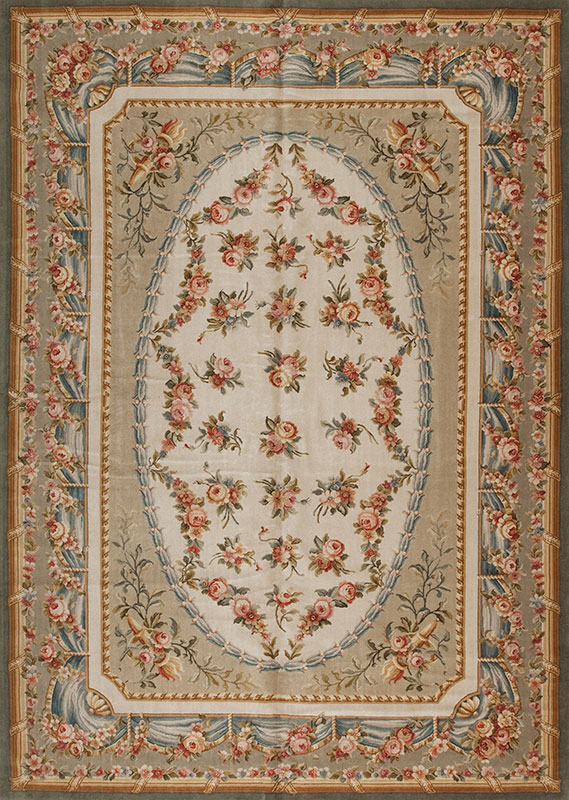 10' x 14' Hand-knotted Thick and Plush Wool French Savonnerie Rug