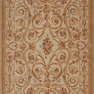 "6' x 8'6"" Hand-knotted Thick and Plush Wool French Savonnerie Rug"
