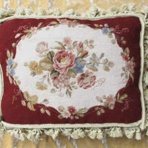 12 x 16 Handmade Wool Needlepoint Petit Point Cushion Cover Pillow Case