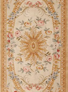 3' x 12' Hand-knotted Thick and Plush Wool French Savonnerie Runner Rug