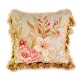 12x12 Handmade French Gobelin Tapestry Weave Wool Aubusson Cushion Cover Pillow Case 12980032