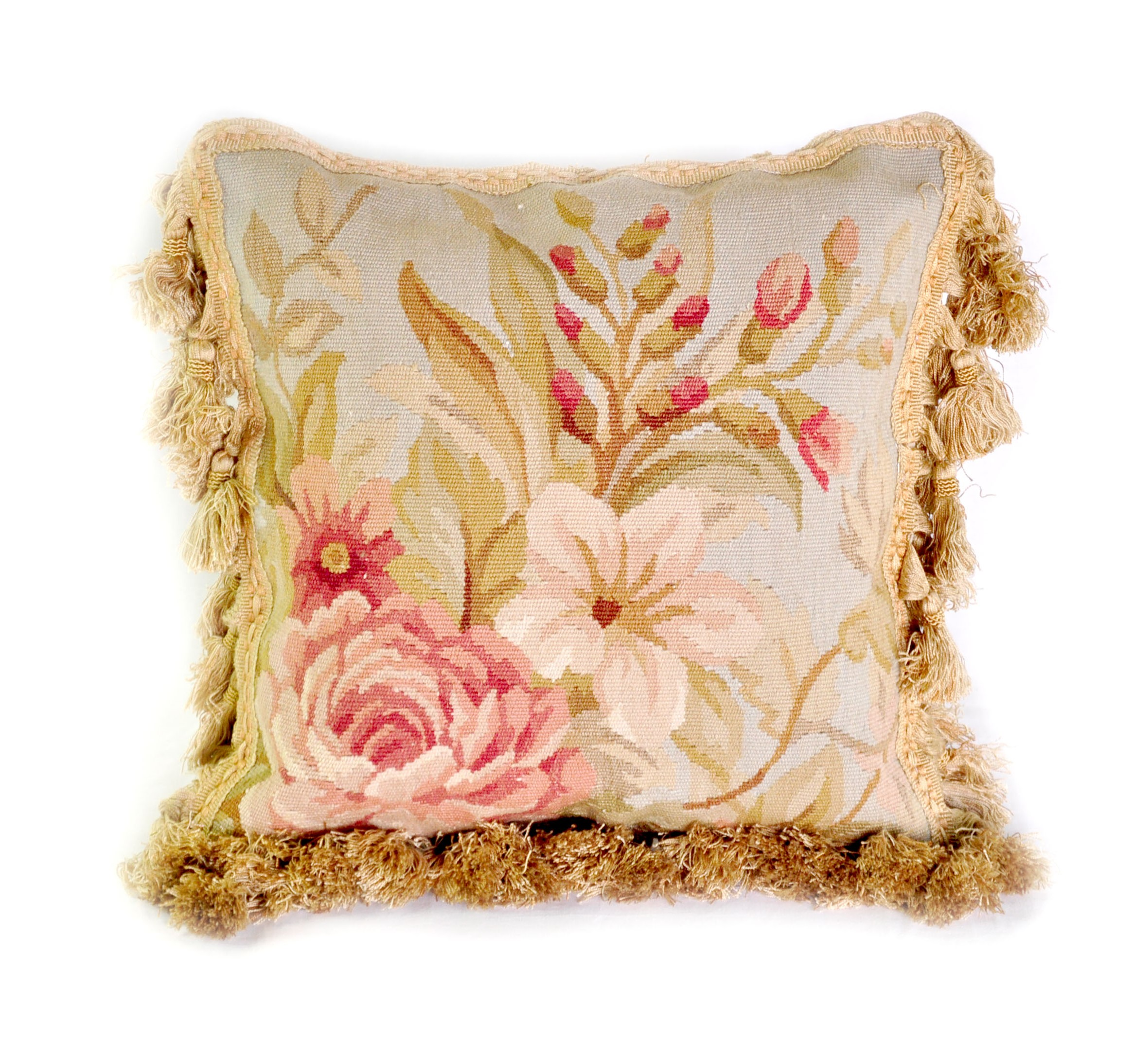 12×12 Handmade French Gobelin Tapestry Weave Wool Aubusson Cushion Cover Pillow Case 12980032