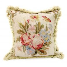 "14"" x 14"" Handmade Wool Needlepoint Butterfly Cushion Cover Pillow Case 12980106"