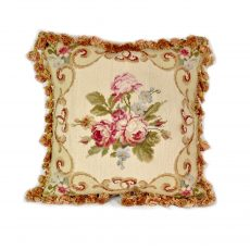 16″x16″ Handmade Wool Needlepoint Rose Cushion Cover Pillow Case 12980123