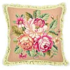 16 x 16 Bouquet of Roses Needlepoint Pillow Cover 12980115