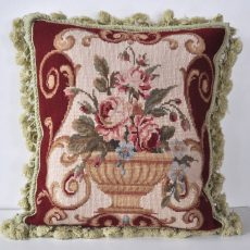 "16"" x 16"" Handmade Wool Needlepoint Cushion Cover Pillow Case 12980112"