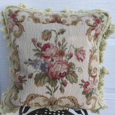 16 x 16 Handmade Wool Needlepoint Roses Cushion Cover Pillow Case 12980113