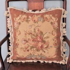 18″x18″ Handmade Wool Needlepoint Rose Bouquet Cushion Cover Pillow Case 12980130