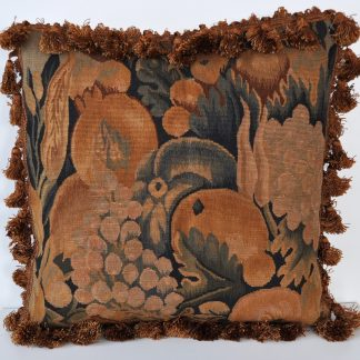 "18"" x 18"" Hand-woven French Gobelins Tapestry Weave Wool Aubusson Cushion Cover Pillow Case 12980027"