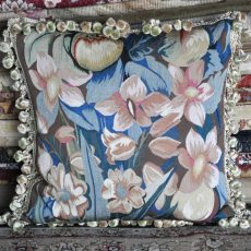 "18"" x 18"" Handmade French Gobelins Tapestry Weave Silk Aubusson Cushion Cover Pillow Case 12980042"