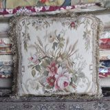 """18"""" x 18"""" Handmade French Gobelins Tapestry Weave Wool Aubusson Cushion Cover Pillow Case 12980016"""