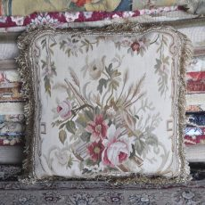 "18"" x 18"" Handmade French Gobelins Tapestry Weave Wool Aubusson Cushion Cover Pillow Case 12980016"