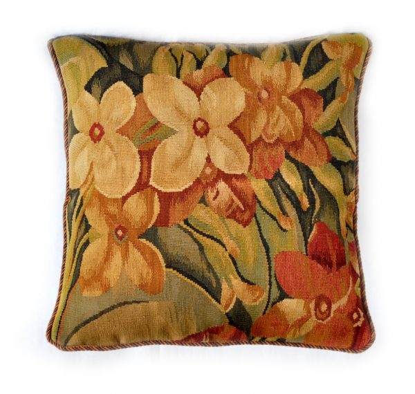 """18"""" x 18"""" Handmade French Gobelins Tapestry Weave Wool Aubusson Cushion Cover Pillow Case 12980025"""