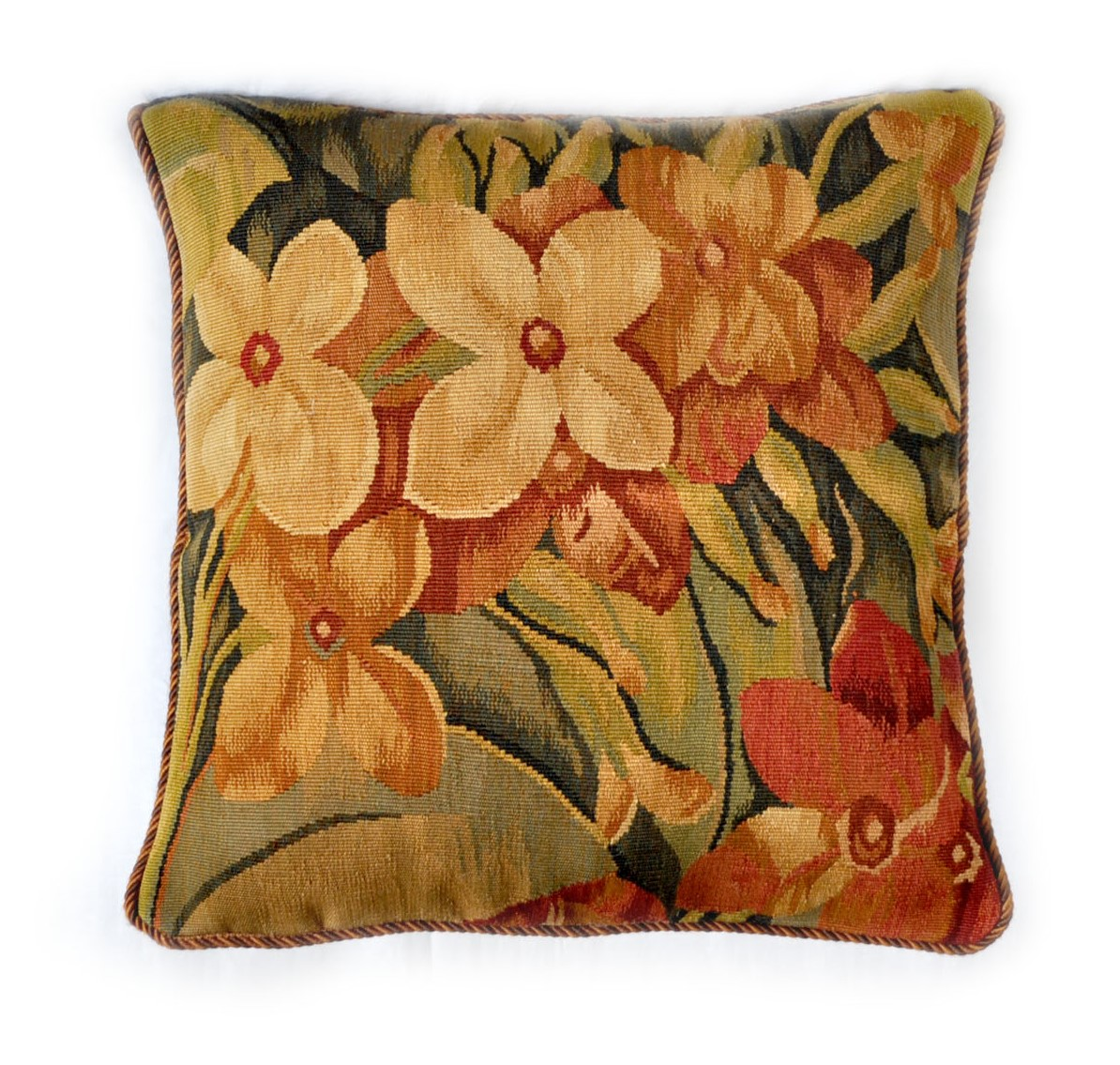 18″ x 18″ Handmade French Gobelins Tapestry Weave Wool Aubusson Cushion Cover Pillow Case 12980025