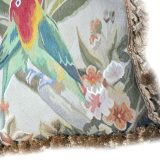 18 x 18 Handmade French Gobelins Tapestry Weave Wool and Silk Bird Parrot Aubusson Cushion Cover Pillow Case 12980037 (4)