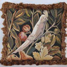 """18"""" x 18"""" Handmade Parrot French Gobelins Tapestry Weave Wool Aubusson Cushion Cover Pillow Case 12980036"""