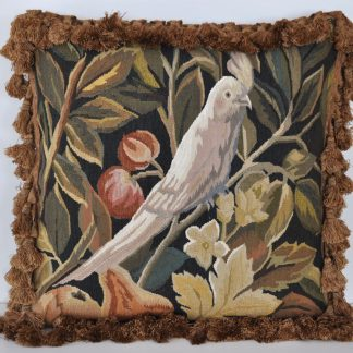 "18"" x 18"" Handmade Parrot French Gobelins Tapestry Weave Wool Aubusson Cushion Cover Pillow Case 12980036"
