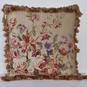 """18"""" x 18"""" Handmade Wool Needlepoint Roses Cushion Cover Pillow Case 12980126"""