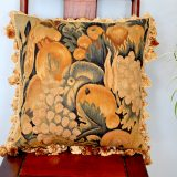 18x18 Antique Finished Hand-woven French Gobelins Tapestry Weave Wool Aubusson Pillow Cover 12980027