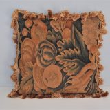 18x18 Antique Finished Handmade French Gobelins Tapestry Weave Wool Aubusson Cushion Cover Pillow Case 12980028