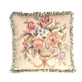 "20"" x 20"" Handmade Antique Reproduction Gobelin Tapestry Wool and Silk Aubusson Cushion Cover Pillow Case 12980015"