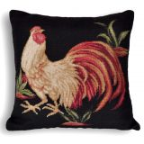 """20""""x20"""" Rooster Needlepoint Pillow Cover 12980132"""
