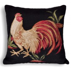 "20""x20"" Rooster Needlepoint Pillow Cover 12980132"