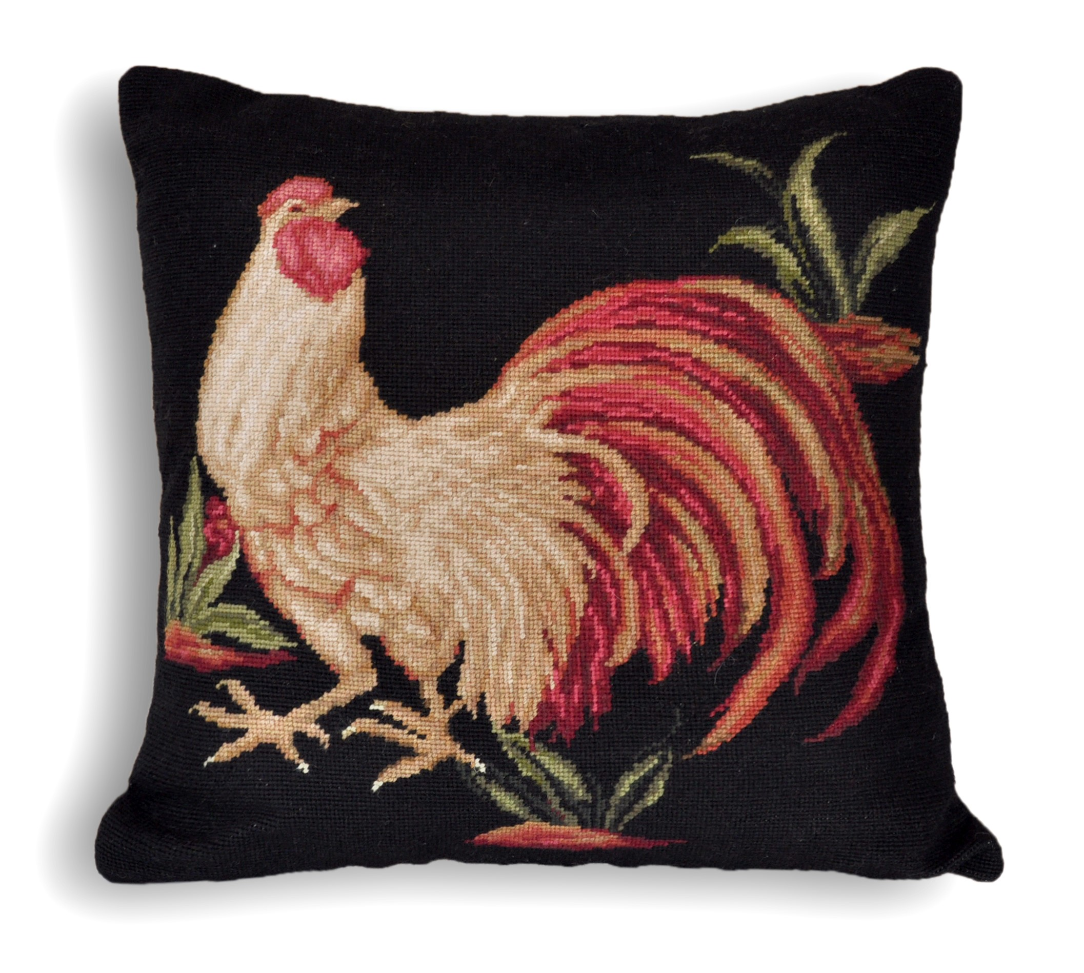 20″x20″ Rooster Needlepoint Pillow Cover 12980132