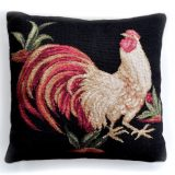 """20""""x20"""" Rooster Needlepoint Pillow Cover 12980133"""