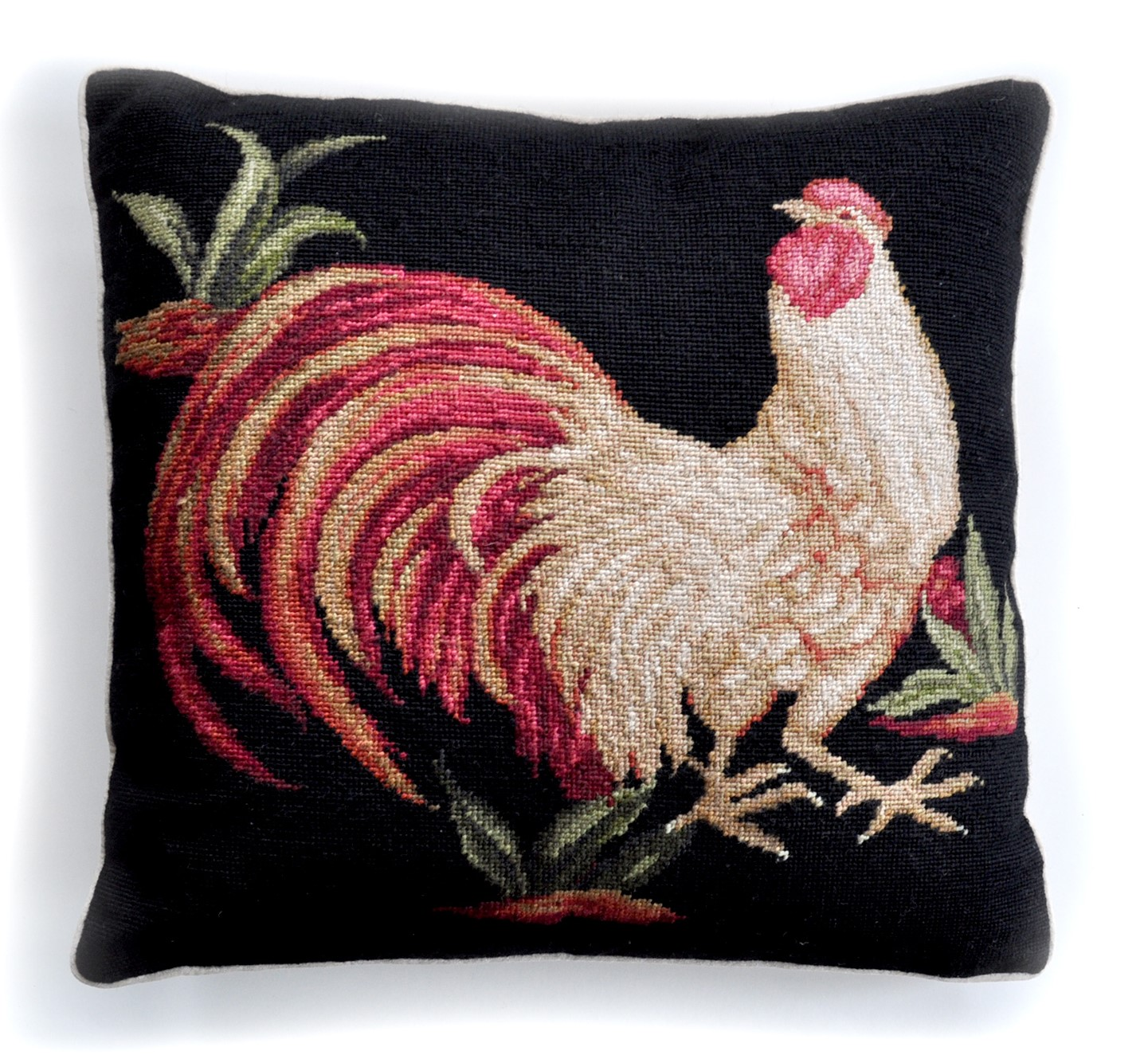 20″x20″ Rooster Needlepoint Pillow Cover 12980133