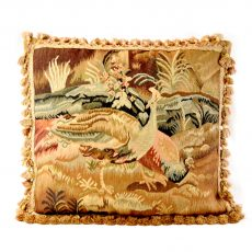 """22""""x24"""" Handmade Peacock French Gobelins Tapestry Weave Wool Aubusson Cushion Cover Pillow Case 12980011"""