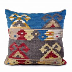 "24""x24"" Hand-woven Wool Kilim Pillow Cover 12980004"