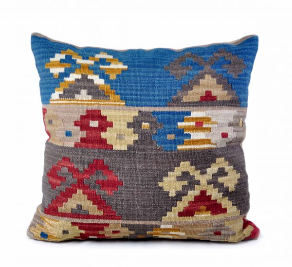 """24""""x24"""" Hand-woven Wool Kilim Pillow Cover 12980004"""