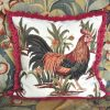 """26"""" x 26"""" Handmade Wool Needlepoint Proud Rooster Cushion Cover Pillow Case 12980153"""