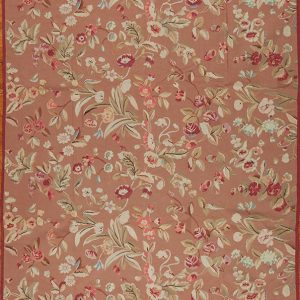 """9'3"""" x 12'3"""" Hand-woven Wool French Aubusson Weave Rug"""