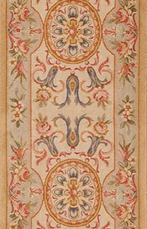 "2'7"" x 10'4"" Hand-knotted Thick and Plush Wool French Savonnerie Runner Rug"