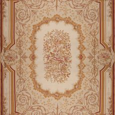 14' x 20' Oversize Hand-woven Wool French Aubusson Weave Rug