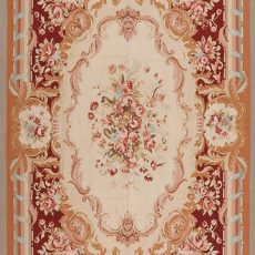 6' x 9' Hand-woven Wool French Aubusson Weave Rug