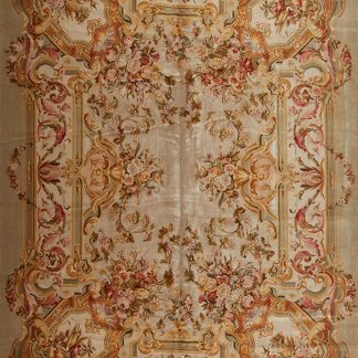 12' x 16' Oversize Hand-knotted Thick and Plush Wool French Savonnerie Rug