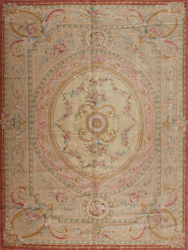 10′ x 14′ Hand-knotted Thick and Plush Wool French Savonnerie Rug