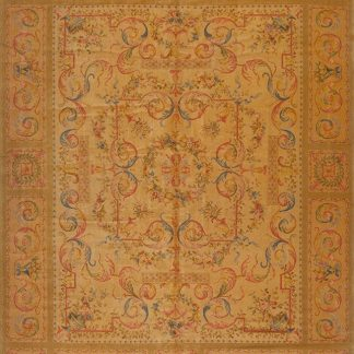 "11'9"" x 14'9"" Oversize Hand-knotted Thick and Plush Wool French Savonnerie Rug"