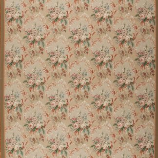 "10'3"" x 14'3"" Hand-woven Wool French Aubusson Weave Rug"