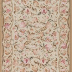 """6' x 9'3"""" Hand-woven Wool French Aubusson Weave Rug"""
