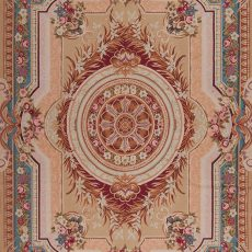 """8'6"""" x 11'6"""" Hand-woven Wool French Aubusson Weave Rug"""