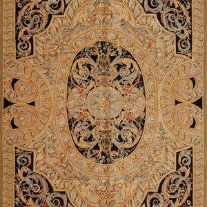 9' x 14' Hand-knotted Thick and Plush Wool French Savonnerie Rug