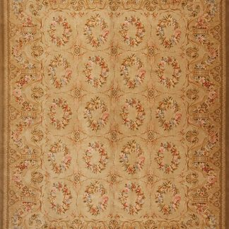 "11'10"" x 16'2"" Oversize Hand-knotted Thick and Plush Wool French Savonnerie Rug"