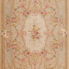 5' x 12' Hand-knotted Thick and Plush Wool French Savonnerie Runner Rug