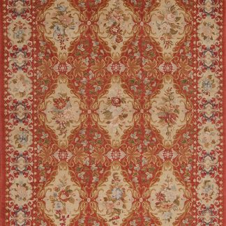 6' x 9' Hand-knotted Thick and Plush Wool French Savonnerie Rug