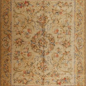12' x 15' Oversize Hand-knotted Thick and Plush Wool French Savonnerie Rug